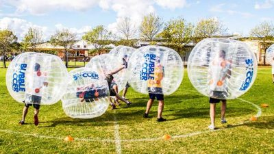 Bubble Soccer for Financial Control Woolworths